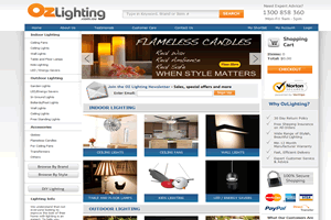 ozLighting - AbleCommerce 7.0.7 Site hosted and managed by Drundo
